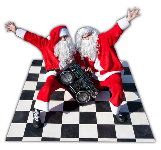 Santa Comedy Breakdance Crew Flaming Fun Event