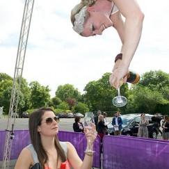 Aerial Bartending Champagne Glitterati