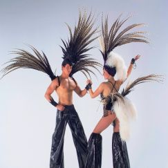 Fabulous Feather Stilt Walkers