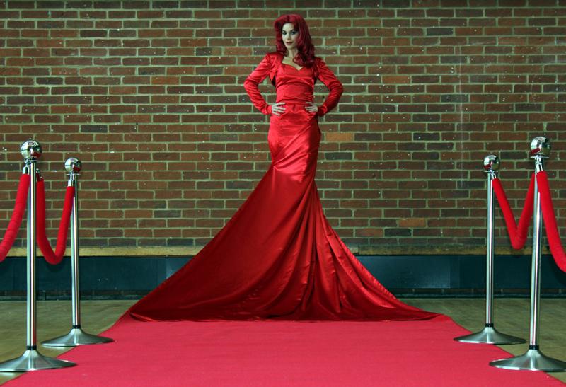 Jessica Carpet Living Red Carpet Act Flaming Fun Event