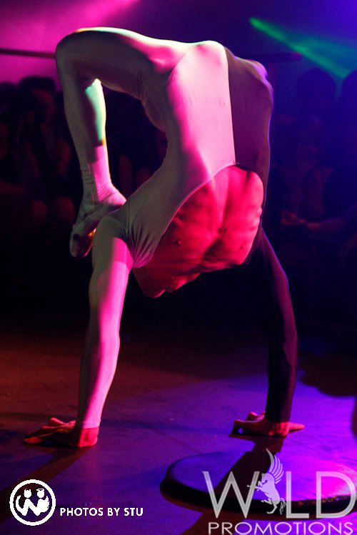 Male Contortion London Flaming Fun Event Entertainment