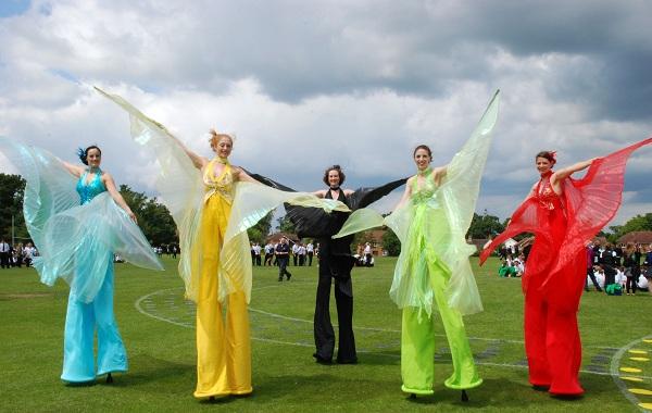 Mariposa Butterfly Stilt Walkers Flaming Fun Event