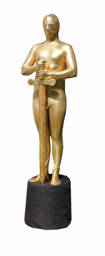 Golden Awards Living Statue Flaming Fun Event