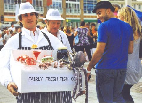 Fairly fresh fish co flaming fun event entertainment agent for Fresh fish company
