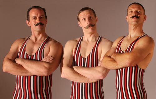 Victorian Strongmen Acrobats Flaming Fun Event