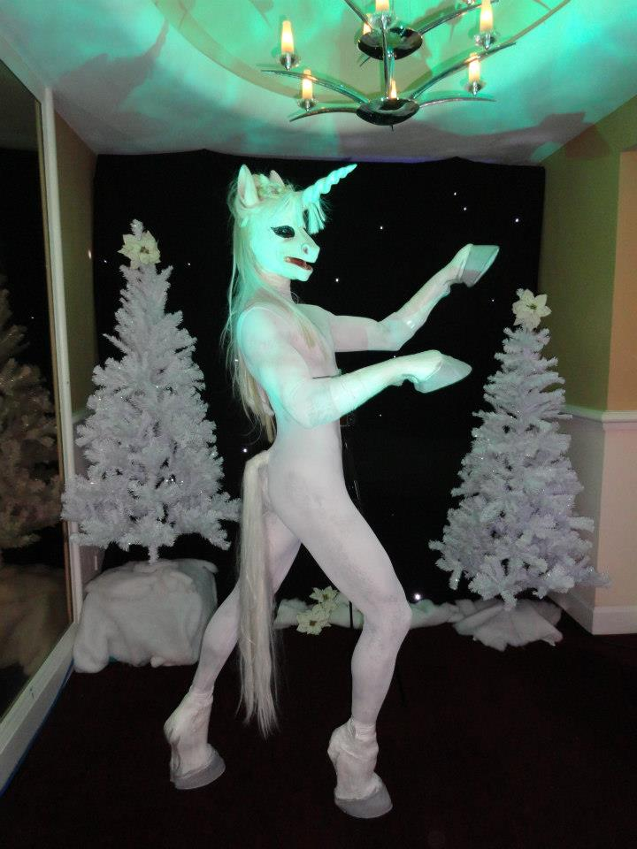 Body Painted Unicorn W...