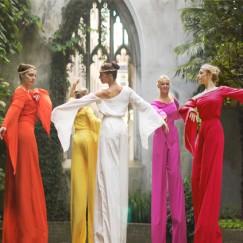 Arcadians-in-colour-stilt-performance