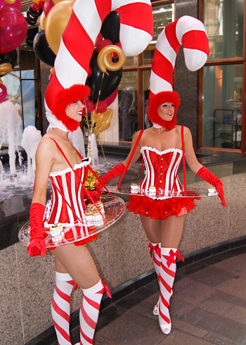 Candy Girls Canape Hostesses Flaming Fun Event