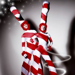 Stilt Walkers - Candy Canes 1