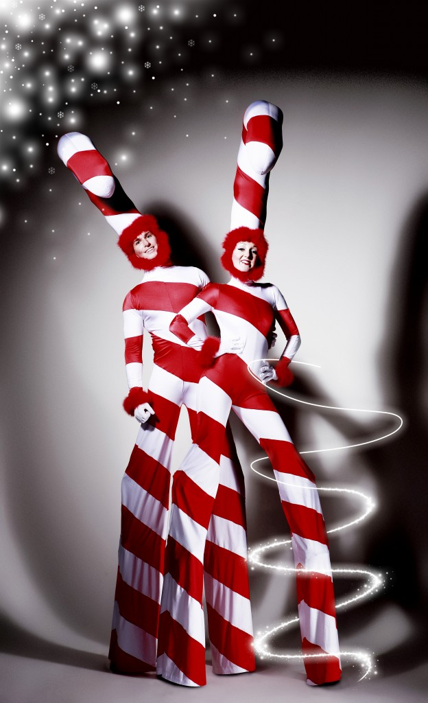 Candy Canes On Stilts Flaming Fun Event Entertainment Agent
