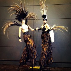Gravitylive - Stilt Walkers - Fabulous feathers 1