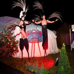 Gravitylive - Stilt Walkers - Fabulous feathers 2