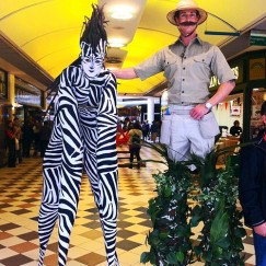 Stilt Walkers - Zebras 3