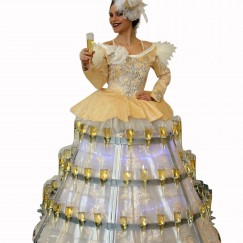 Strolling Champagne Drink Dresses