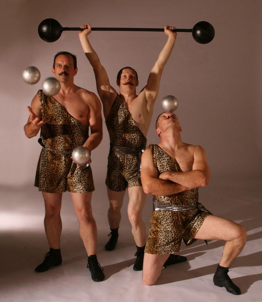 Circus Strongmen Acrobats Flaming Fun Event