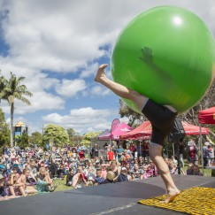 Bruce Airhead at Coffs Harbour International Buskers Festival ,