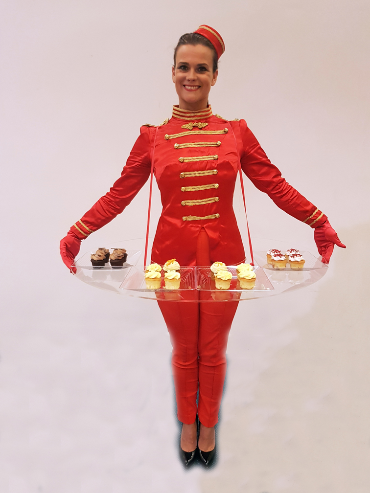 1940s 1950s usherette canape girls flaming fun event entertainment agent - Canape fifties red edition ...