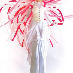 Balloon costume on stilts